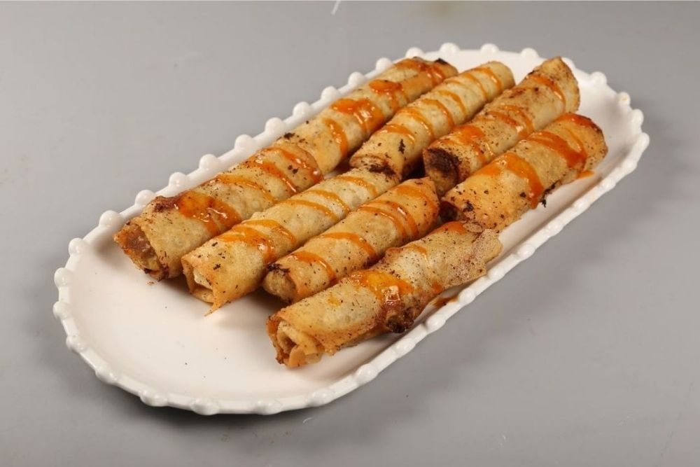 Cheese Burger Egg Rolls With Dip Recipe