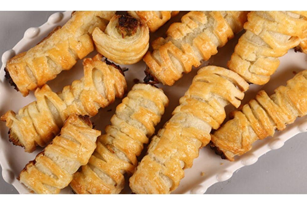 Chicken Puff Pastry Roll Recipe